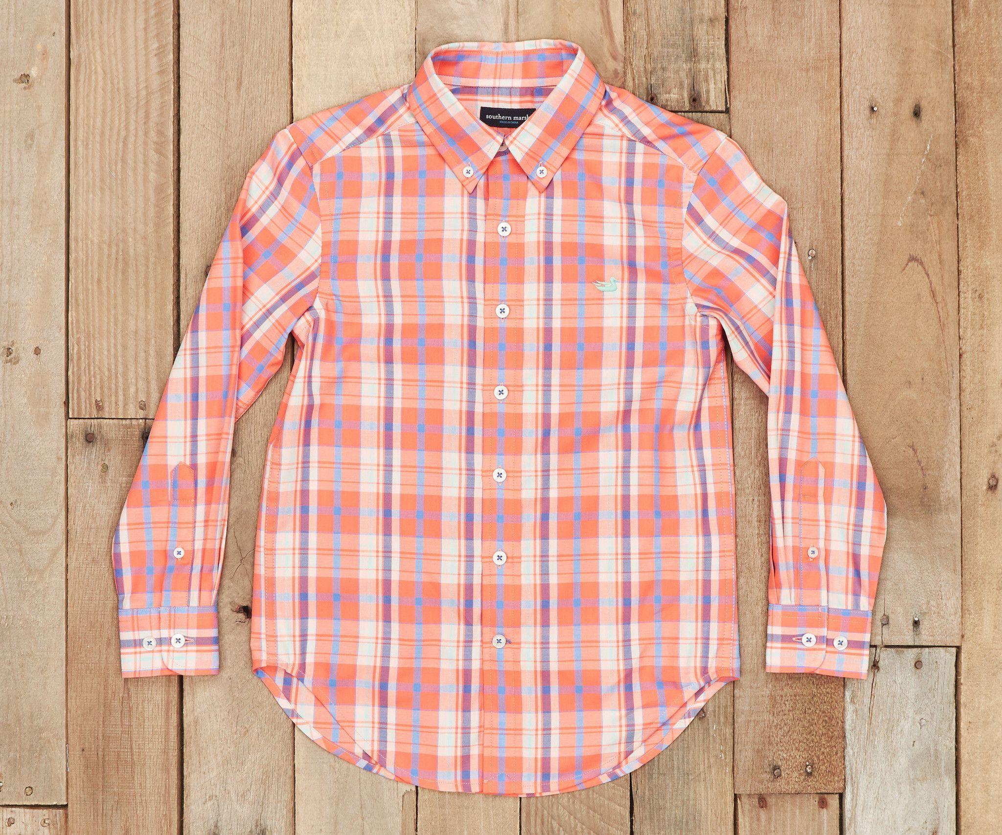Youth Walton Plaid Dress Shirt