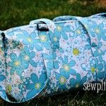 The Sewplicity Quilted Duffle Bag - Sewplicity tutorial