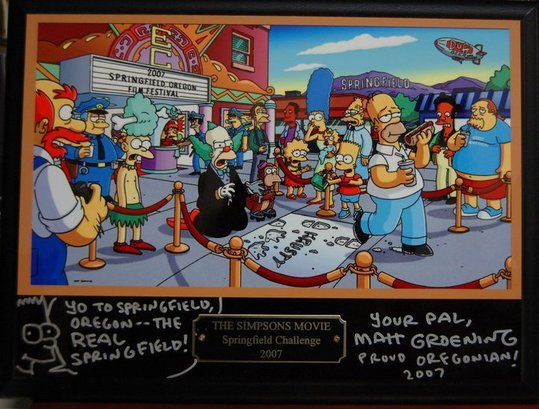 Springfield Or Likes To Think Of Itself As The Real Springfield Of Simpson S Fame To Celebrate T Springfield Simpsons The Simpsons Movie Simpsons Characters