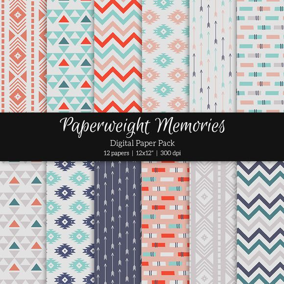 Patterned Paper – Happy Nomad by Paperweight Memories on Creative Market