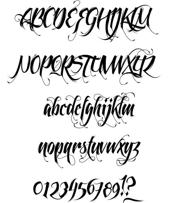 font feathergraphy decoration