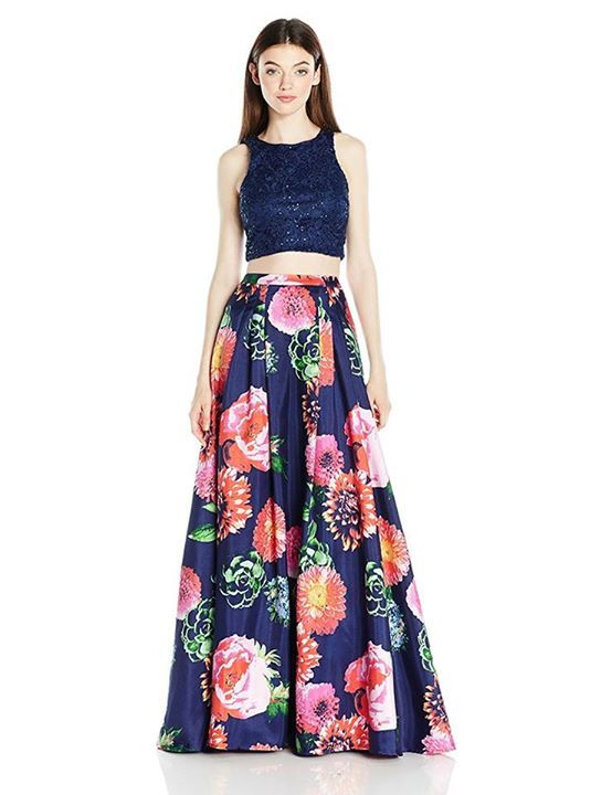 Not 1, not 2, but 3 trends in 1! Blue, floral and two piece dress ...