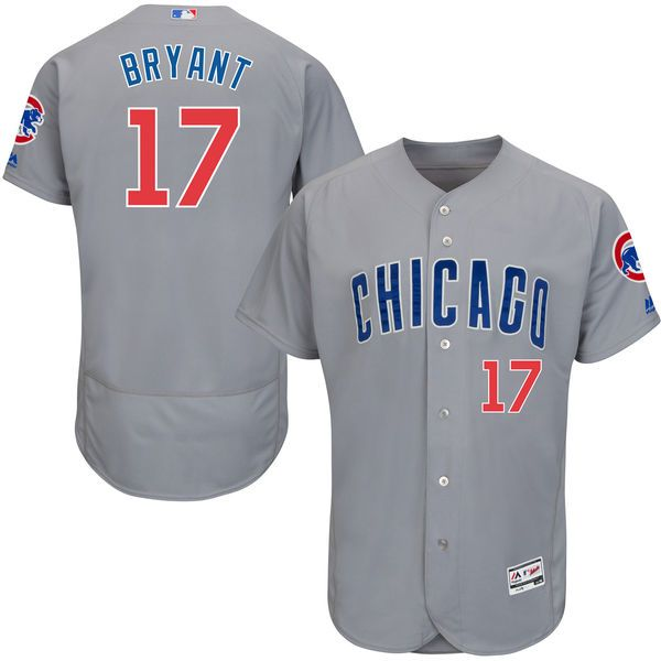 fdf8a35e7 Kris Bryant Chicago Cubs Majestic Road Flex Base Authentic Collection Player  Jersey - Gray -  260.99
