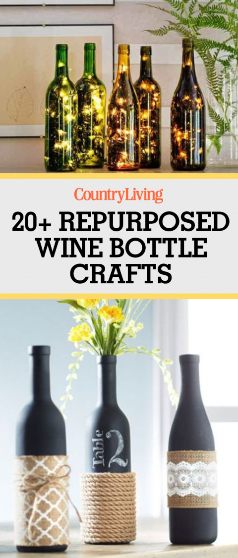 24 creative ways to repurpose your empty wine bottles for Creative ideas for empty wine bottles
