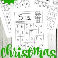 Free Christmas Alphabet Hunt Pages for Preschoolers
