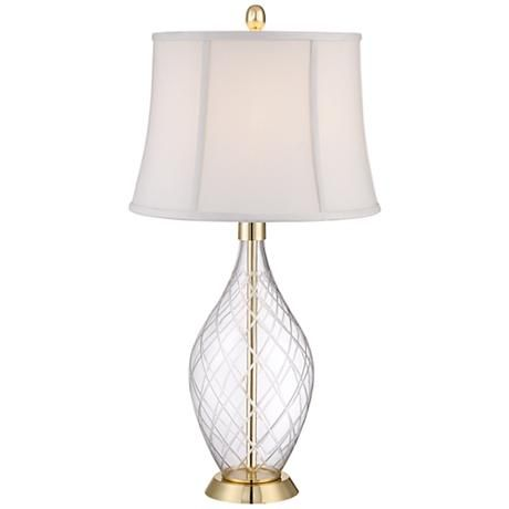 Wexford Crystal Vase Table Lamp 4g547 Lamps Plus Vase Table Lamp Crystal Table Lamps Crystal Vase