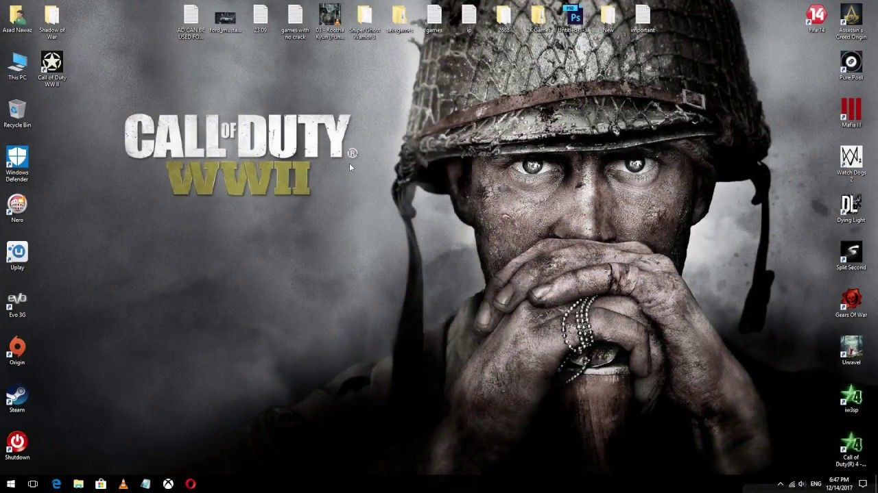 Call of Duty ~ WWII WW2 ~ Game Double Sided Poster Art
