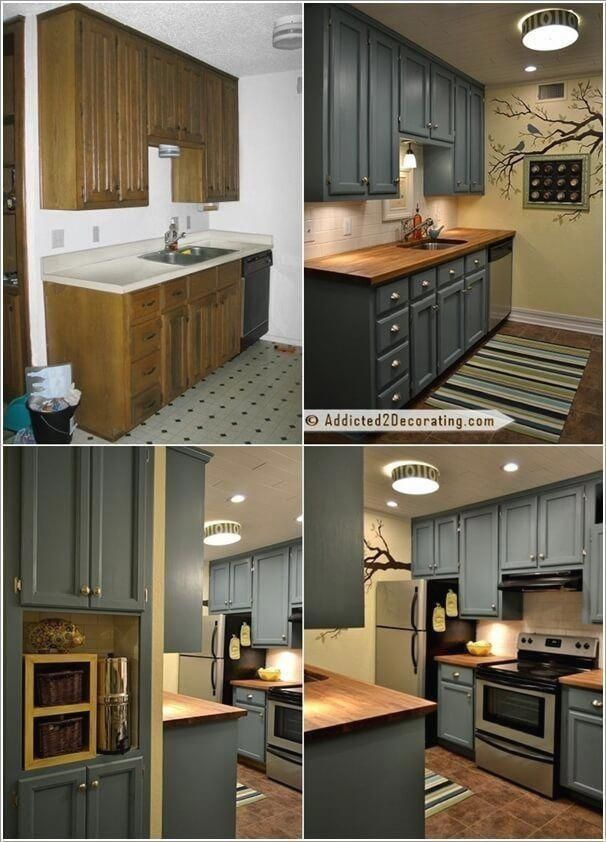 Small Kitchen Remodel Under 2000 And Pics Of Remodeling Ideas Island Kitchenremodel Kitchenideas Modern Cabinets Design