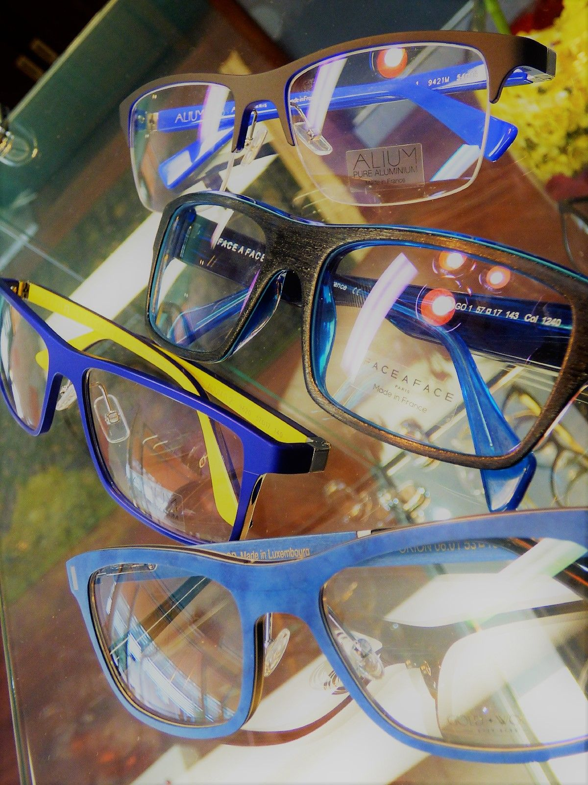 Funky Frame Friday: Beat the winter blues with gorgeous blue frames. Perfect for the office or pair them with denim or chambray for the ultimate in laid-back weekend styling.