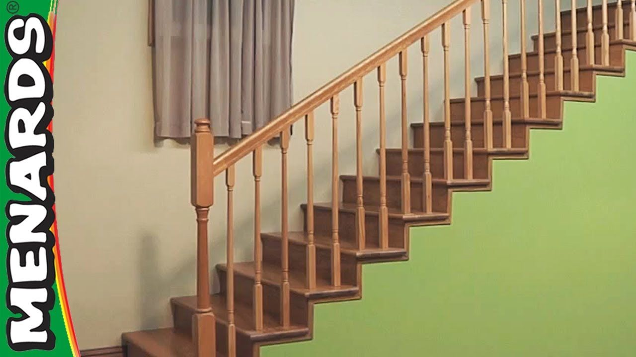 Best How To Install Your Own Railing Installing Stair Rails Menards Stair Railing Stairs 640 x 480