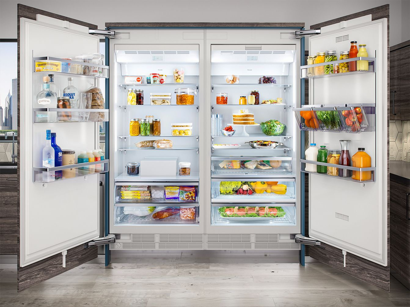 When It Comes To Thermador Refrigeration Bigger Is Better Check Out The New 36 Columns Luxury Refrigerator Thermador French Country Kitchens