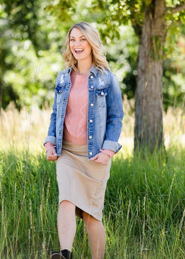 Ophelia Skirt (Khaki, Pink, Yellow) | Short pencil skirt