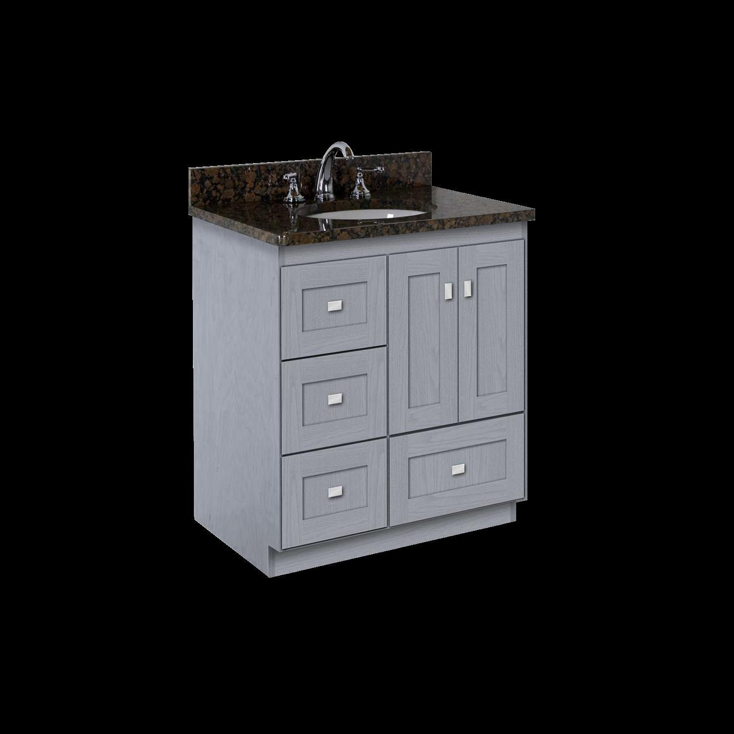 Virtu usa hazel 56 inch single sink bathroom vanity set free - Strasser Woodenworks 13 237 Montlake 30 Vanity With Shaker Doors