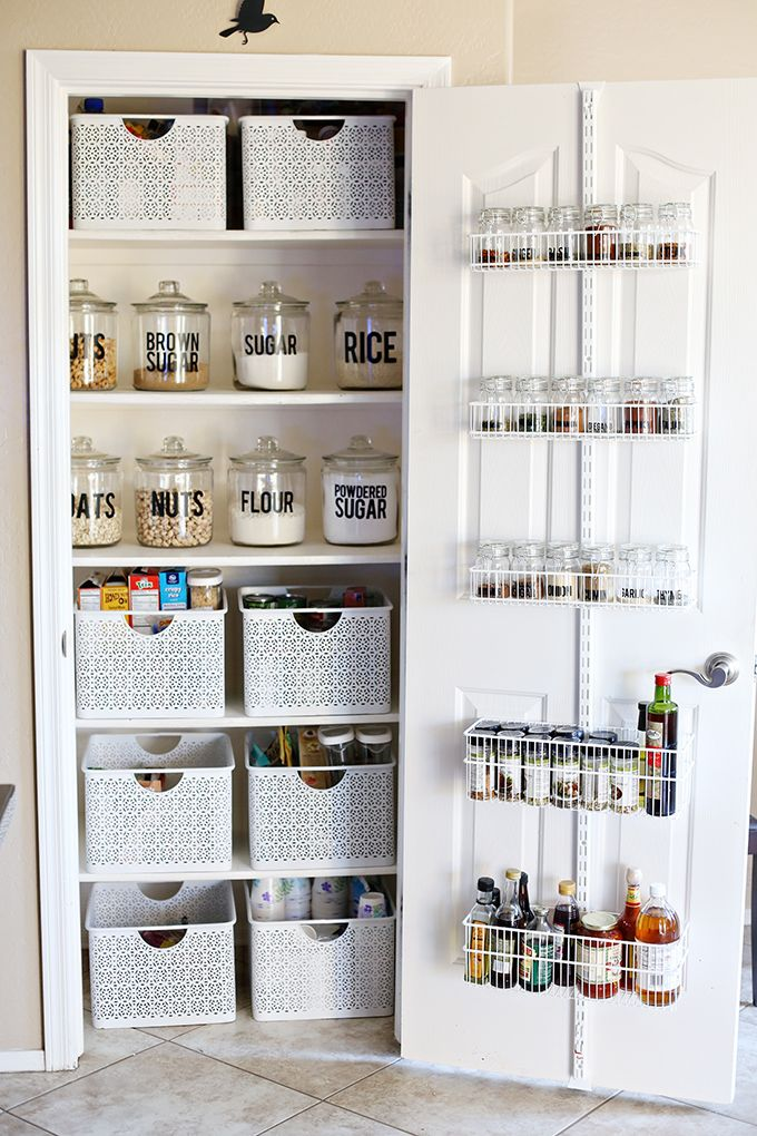 Organization Small Pantry Makeover Apartment Kitchen