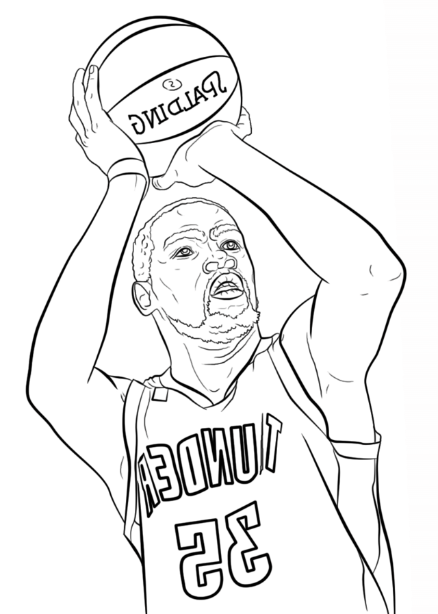 Kevin Durant Spalding Coloring Page Coloring Pages Free Coloring Pages Free Coloring