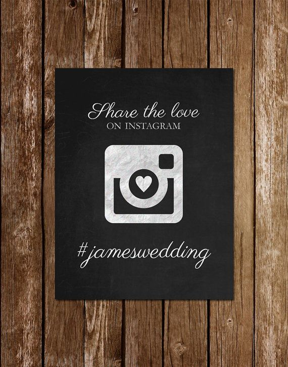 Hey, I found this really awesome Etsy listing at https://www.etsy.com/listing/195618636/printable-instagram-wedding-sign