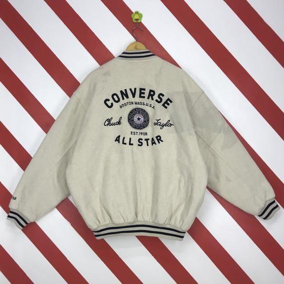 Vintage 90s Converse Jacket Zipper Converse Usa Fleece Jacket Converse Chuck Taylor All Star Jacket Converse Jacket Fleece Jacket Kenzo Sweatshirt