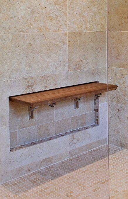 Amazon Com 30 X12 5 Teak Wall Mount Fold Down Shower Seat Home Kitchen Teak Shower Bench Shower Bench Teak Shower