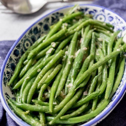 Haricot Verts with Dijon Vinaigrette #chickenkabobmarinade