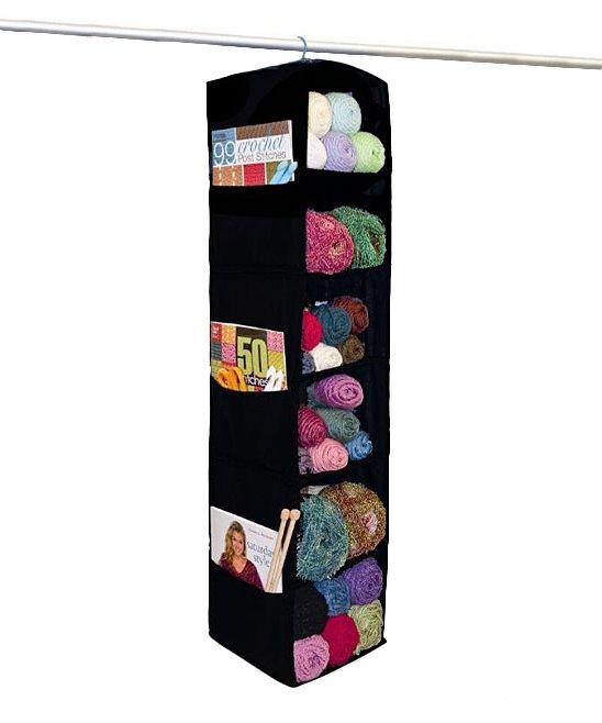 Black Six-Shelf Yarn & Craft Storage Organizer