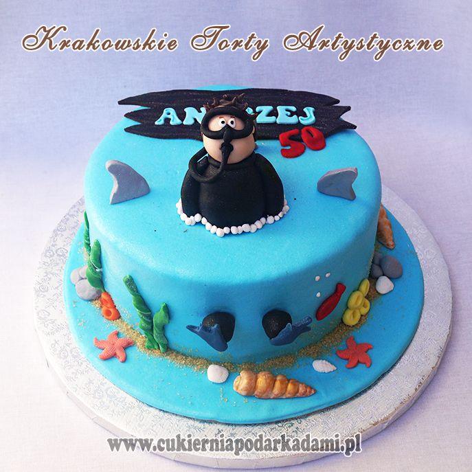 28ba Tort Dla Nurka Cake For The Diver Desserts Cake Food