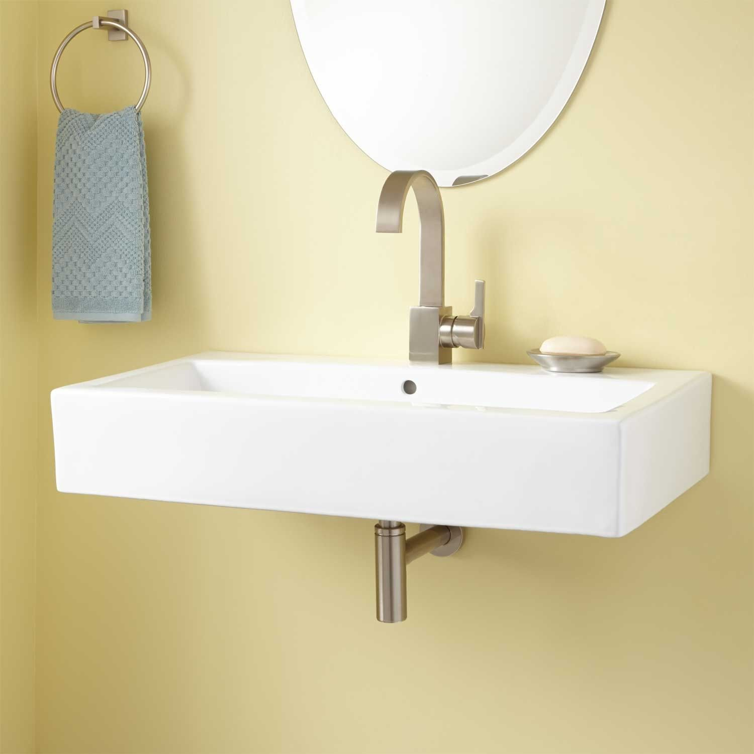 Maggie Rectangular Wall-Mount Sink - White | For My Home | Pinterest ...