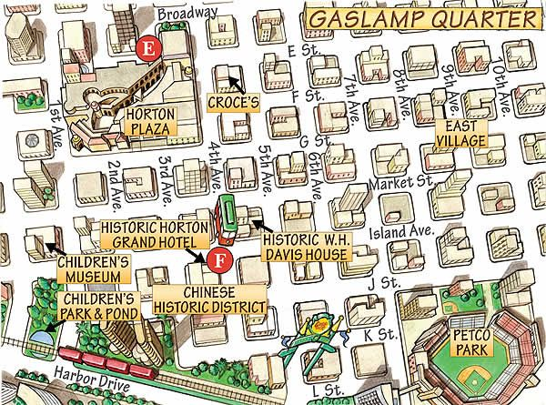 Gaslamp District Map | My blog