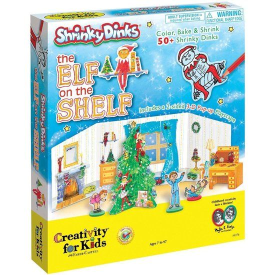 """Pin for Later: 30 Fun Ways to Upgrade Your Elf on the Shelf The Classic """"Craft"""" Share your favorite art activity with your little ones. Kids will get a kick out of this Shrinky Dinks set ($23, originally $25)."""