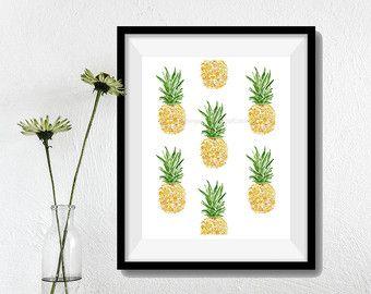 Art Print The Lemon Tree Folk Art inspired print by TheJoyofColor