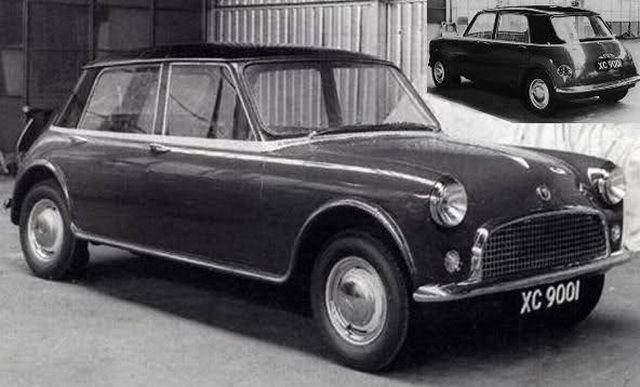 BMC - An early design study for the Austin/Morris the original BIG Mini! BMW have a 5 door Mini coming soon & BMC XC9001 Prototype | Cars - Austin-Morris (British Motor Corp ...