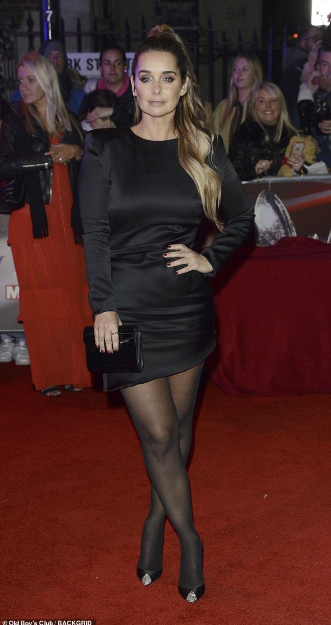 Pin By Jay On Heels N Hose Louise Redknapp Mini Black Dress