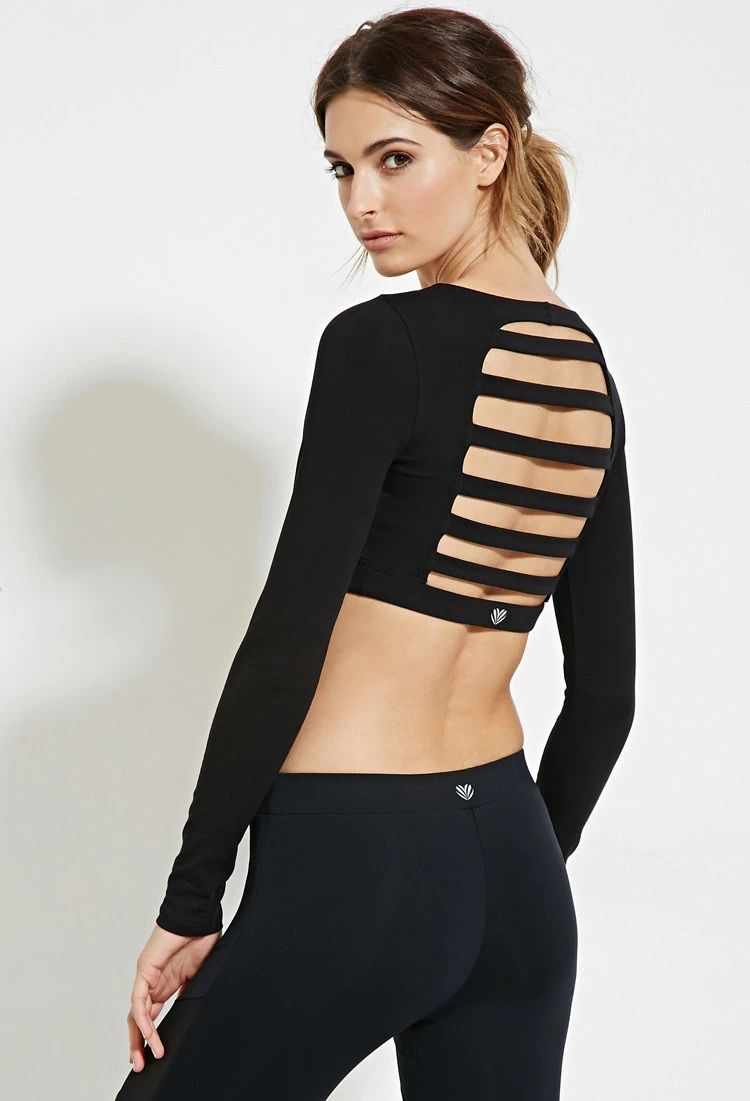 62bc55f54b6e Active Ladder-Back Crop Top | Forever 21 #forever21active | forever ...