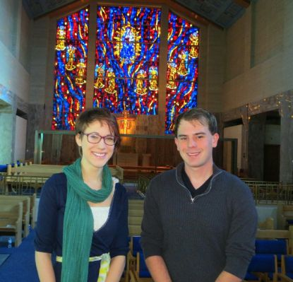 Lourdes students Katie Goliver and Steve Sczesny will walk the path of St. Francis during AFCU pilgrimage