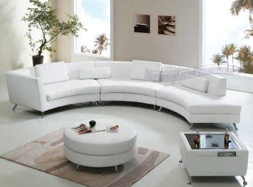 Outstanding Contemporary Furniture White Leather Open Chaise Sectional Ncnpc Chair Design For Home Ncnpcorg