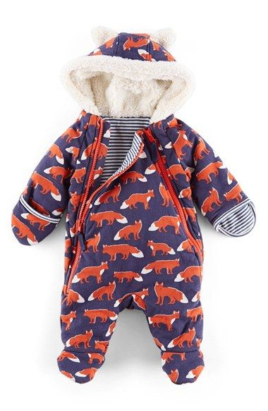 f7225cd8dc27 Free shipping and returns on Mini Boden Fox Print Front Zip Snowsuit ...