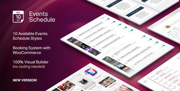 Events Schedule V2.4.2.2 Events WordPress Plugin   com   Pinterest
