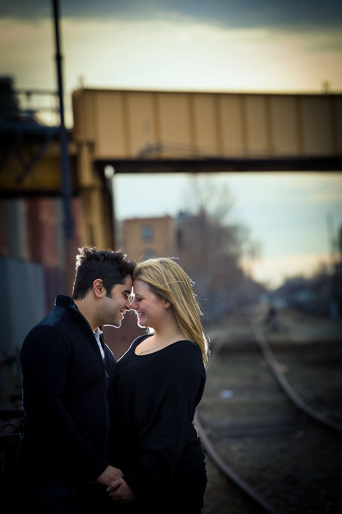 dramatic lighting engagement photograph by WASIO photography