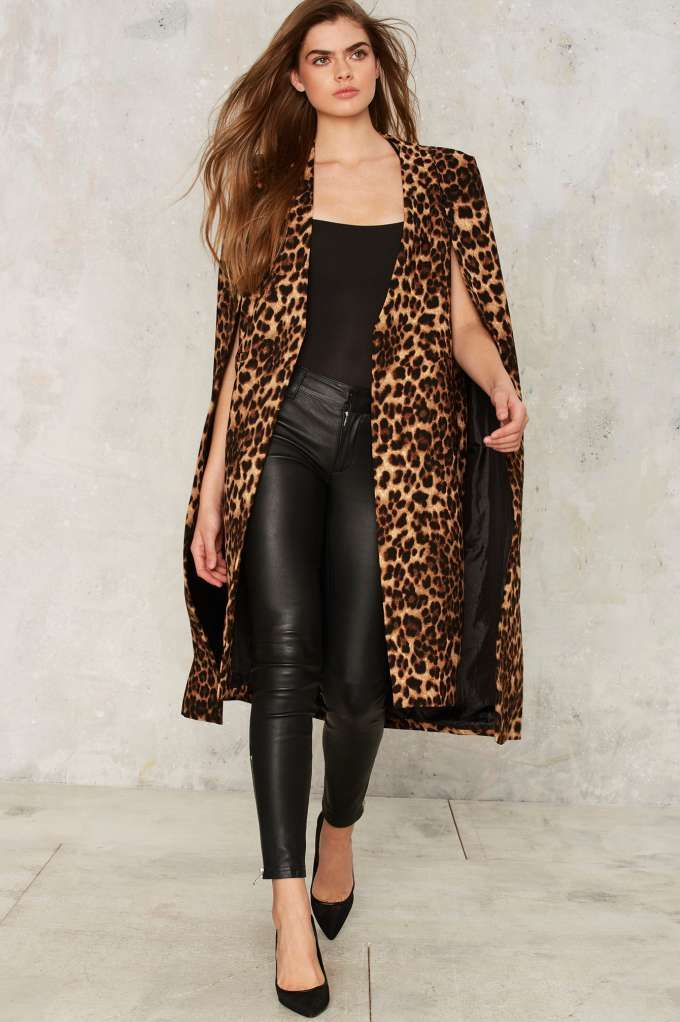 709840ce32d3 Lavish Alice On the Fly Cape Jacket - Leopard - Sale: Newly Added | Sale:  30% Off | Valentine's Day | Spring Smackdown | Blazers + Capes | Jackets +  Coats