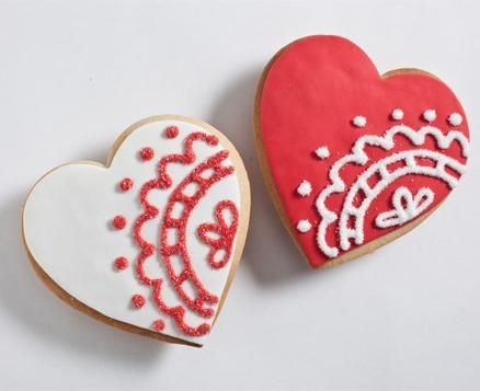 Lace Heart Duo, the perfect cookie treat for your Valentine.