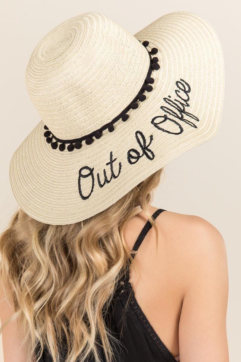 0984c223af Out of Office Summer hat  30  summer  accessories  fashion  womensfashion   hat  summerhat  beach  beachfashion  beachhat  floppyhat ...