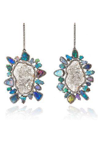 Kimberly McDonald opal and diamond earrings