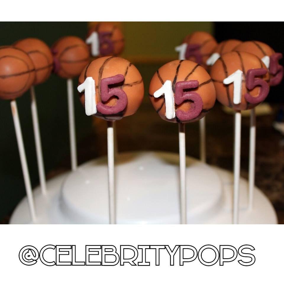 Basketball Cake Pops #basketball