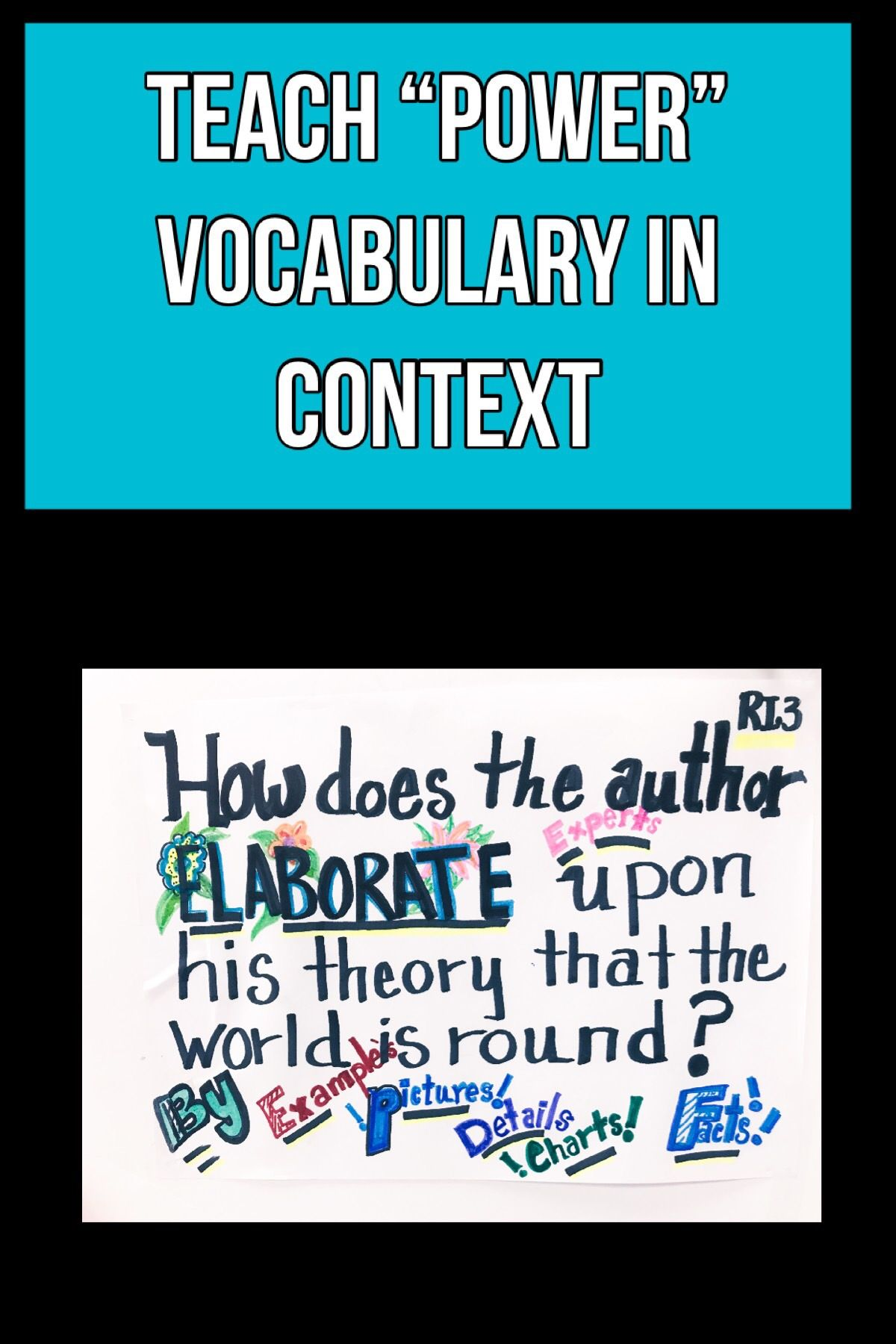 Power Words Display Words In Context It Helps Students