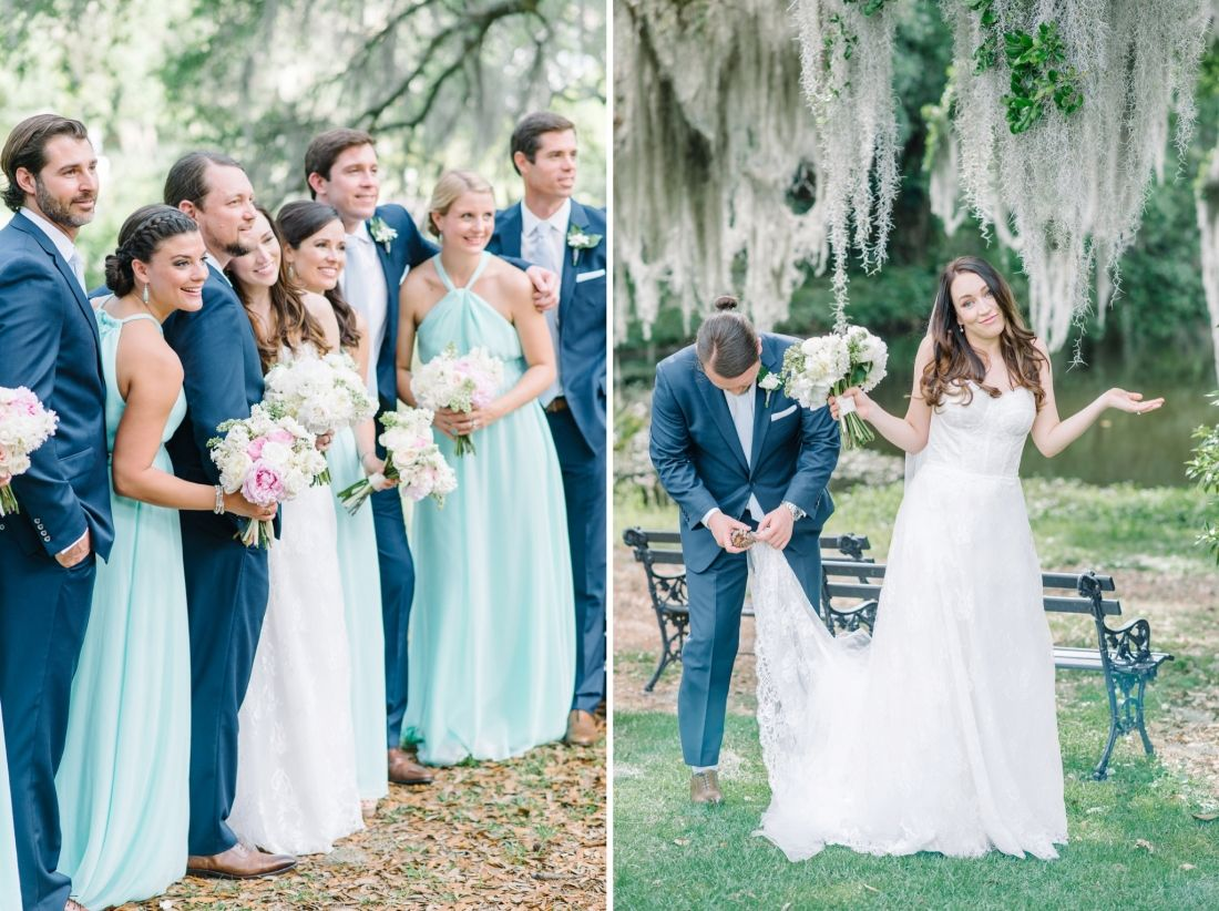 Chic romantic and elegant may wedding at the legare waring house