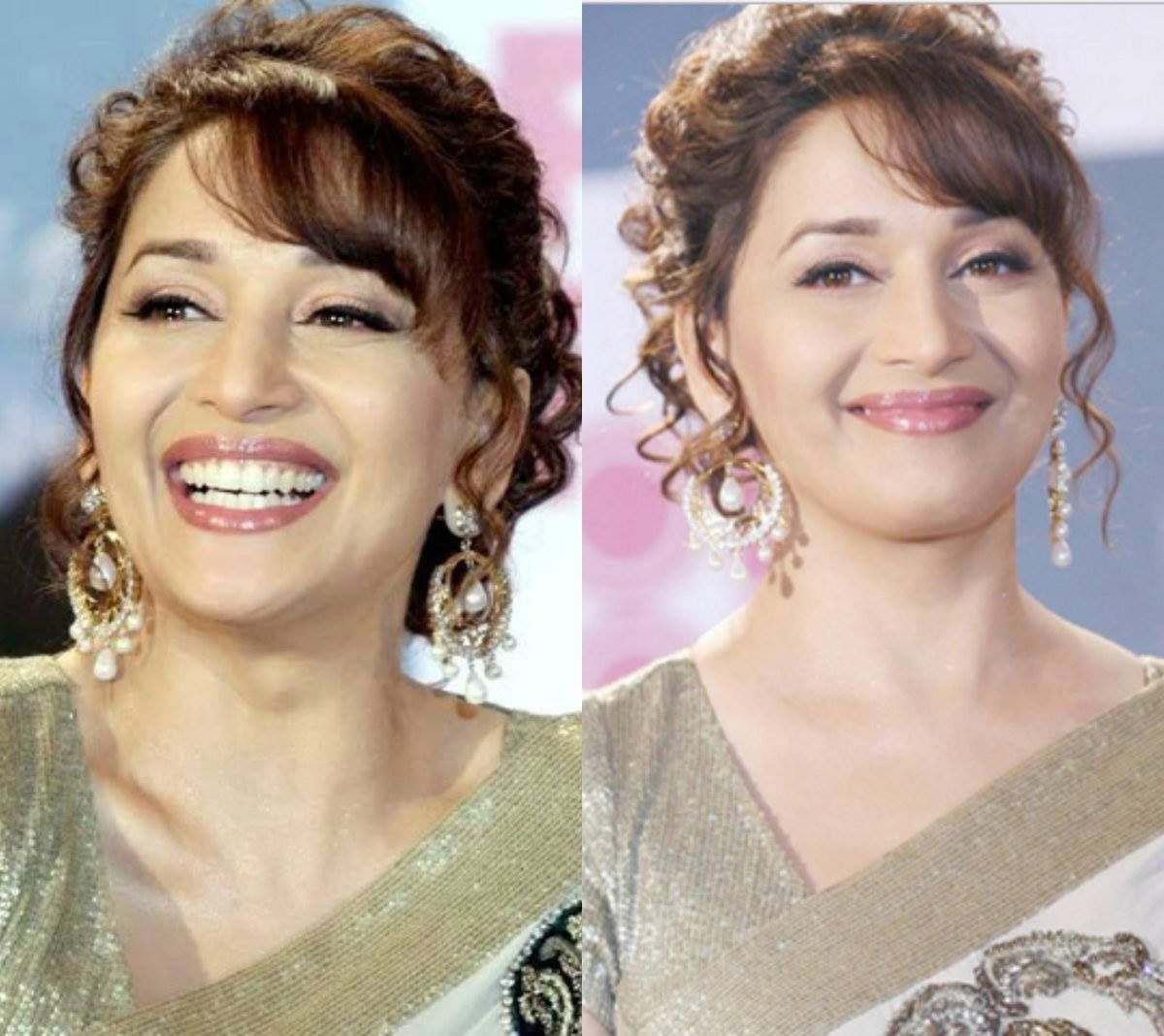 Madhuri Dixit In Saree Beauty Hair Styles Ethereal Beauty