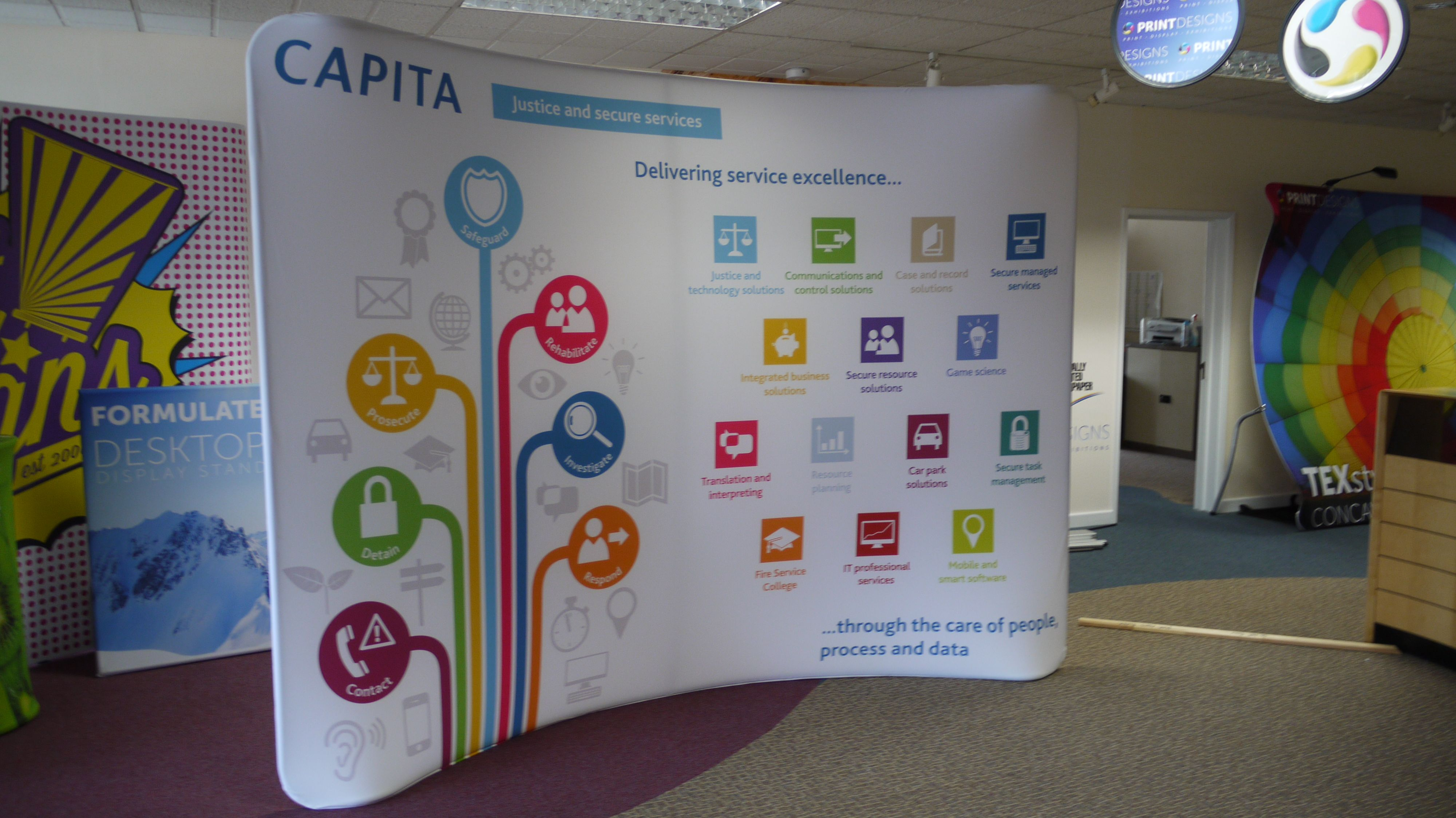Modern Exhibition Stand Price : Texstyle curved fabric display texstyle curved fabric displays