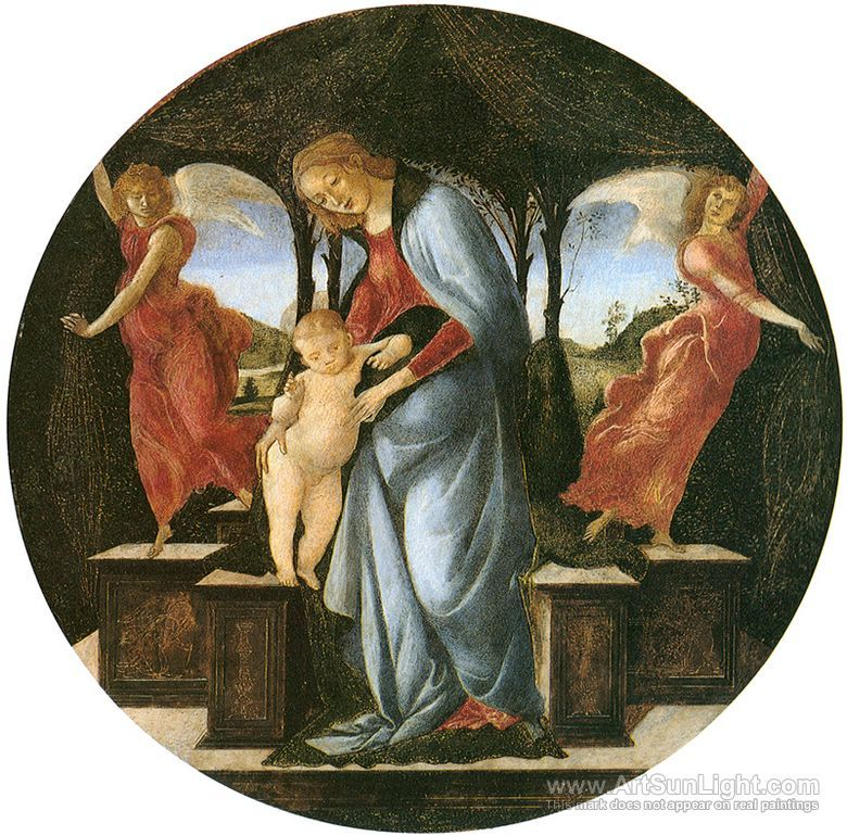 Virgin and Child with Two Angels - Ales Sandro Botticelli