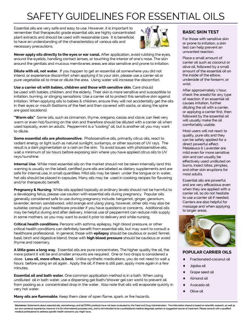 Learnoils Me Safety Guidelines Pg 2 Essential Oils For Babies Essential Oil Safety Essential Oil Usage