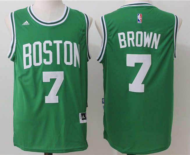 7fe28107 Boston Celtics #7 Brown Green Men 2017 New Logo NBA Adidas Jersey ...