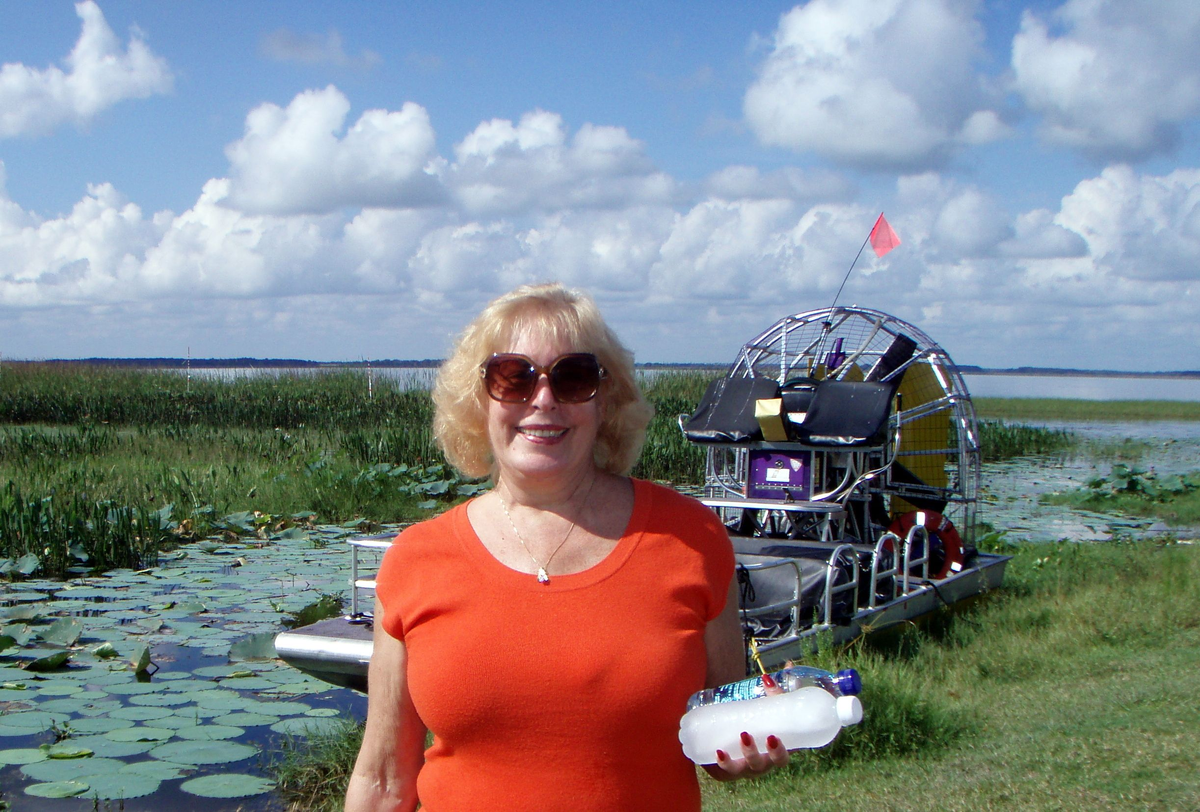 Airboat ride at the source of the Everglades near Orlando